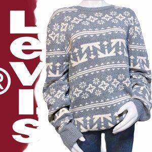 Levi's Oversized Winter/Holiday Sweater